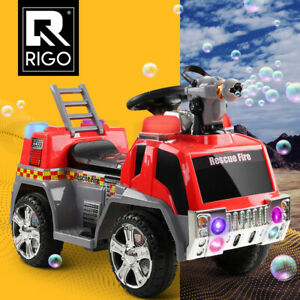 Rigo Kids Ride On Car Toys Cars Electric Fire Engine Fighting Truck Toddler Toy