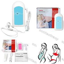 FDA Fetal Doppler Baby Sound Heart Beat Prenatal Heart Monitor,Free one Gel,pink