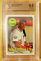BGS 9.5 Gem Mint 2018 Topps Heritage RC Juan Soto #502 Rookie Card Nationals