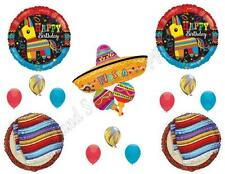FIESTA Pinata Sombrero Birthday Party Balloons Decoration Supplies Taco Mexico
