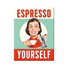 Espresso yourself Kühlschrankmagnet Fridge Refrigerator Magnet 6 x 8 cm