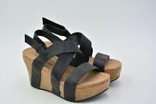 Pierre Dumas Women's Hester-5 Vegan Leather Strappy Wedge Sandal Black 7 M USED