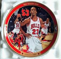 """Michael Jordan 90s Collectors Plate w/COA Upper Deck """"NBA Season High"""""""