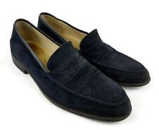 Giorgio's Of Palm Beach Men Moccasin Toe Black Suede Loafer Size 9 M Italy Shoes