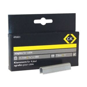 CK Cable Staples - Half Round 7.5 x 11.1mm