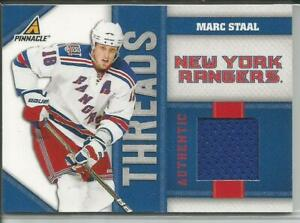 10-11 Pinnacle Threads Marc Staal Jersey 327/499 #MS Rangers