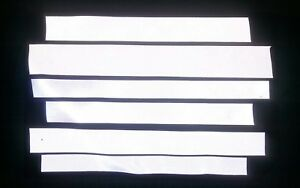 hi vis reflective material heat seal strips,100+,arts & crafts,hobbies,projects