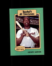 1987 Hygrade Baseball All-Time Greats Henry Aaron (B)
