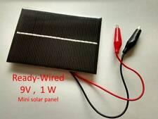 Ready-Wired 9V 1W Mini Solar Panel DIY - No soldering needed -US seller
