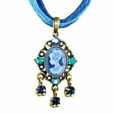 Rhodium Plated Leather Costume Necklaces & Pendants