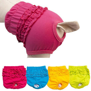 AC_ Female Dog Puppy Pet Diaper Pants Physiological Sanitary Panty Underwear Not