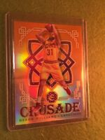 DERON WILLIAMS PRIZM REFRACTOR /25 SSP 2016-17 Excalibur Crusade Orange Prism SP