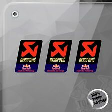 PEGATINA AKRAPOVIC RED BULL HONDA RACING EXHAUST STICKER AUFKLEBER AUTOCOLLANT