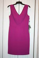 Women's ADRIANNA PAPELL Magenta V-Neck Sleeveless Homecoming Dress Size 8P-NWT