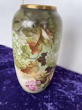 Wunderschöne Jugendstil Porzellanvase Hortensien Malerei