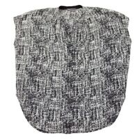 Vince 100% Silk Sleeveless Tunic V-Neck Size Medium Top Shirt Blouse Black White
