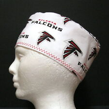 Atlanta Falcons Mens Scrub Hat, Chemo Hat, Skull Cap, Doctors Hat, Surgical Cap
