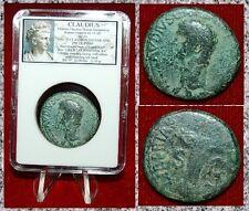 Roman Empire Coin CLAUDIUS Libertas With Pileus Emperor On Obverse