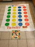 Vintage Twister Game 1966 Milton Bradley SPINNER BOARD and PLASTIC SHEET 4645-X1