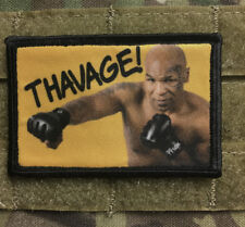 Mike Tyson THAVAGE Morale Patch Funny Tactical Military USA flag