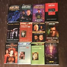 STAR TREK BOOKS MIXED LOT SCI FI NEXT GENERATION PICARD WORF DATA ENTERPRISE 6