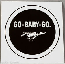 Go Baby Go Sticker, Ford Mustang decal, cars, truck, Stick on