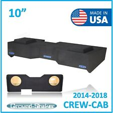 "2014-2018 Chevy Silverado Crew Cab Sub Box 10"" Dual Subwoofer Enclosure BLUE"