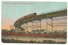 Postcard Elevated R R Curve 110th Street New York/Posted 1915/Germany