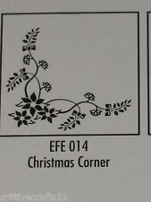 "Nellie Snellen Emboss Folders ""Christmas Corner"" Efe014 Cards And Scrapbooking"