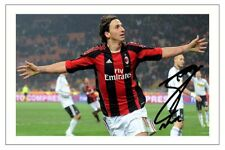 ZLATAN IBRAHIMOVIC AC Milan Autographe Signé imprimé photo football