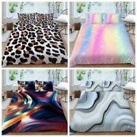 Milsleep 2/3pcs Bedding Set Creative Leopard Marble Design Duvet Cover Set