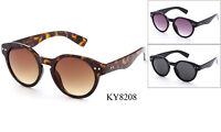 Keyhole Sunglasses Eyewear Round Vintage Retro Horned Rim Classic Frame UV 100%