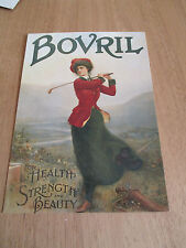 """COLOUR REPRO POSTCARD, """" BOVRIL FOR HEALTH  STRENGTH AND BEAUTY """"."""