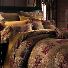 4PC SET CROSCILL GALLERIA Burgundy Red King Comforter (NEW in box)