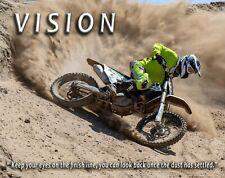 Motocross Motorcycle Racing Vision Motivational Poster Art Print Wall Decor Gift