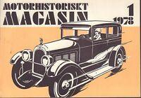 Motorhistoriskt Magasin Swedish Car Magazine 1 1978 Belleville 040317nonDBE