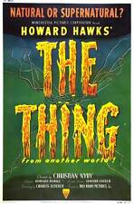 THE THING FROM ANOTHER WORLD Movie POSTER 27x40 E James Arness Kenneth Tobey