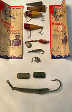 Lot of 11 vintage antique fishing items lures