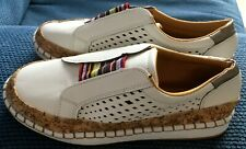 New Womens' White Loafer Shoes, Size 4/37