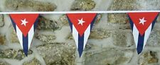 More details for cuba flag polyester bunting - various lengths