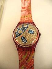PRISTINE Swatch Watch Ravenna GR107 1990 Spring Summer Collection Standard