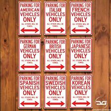Parking Sign Novelty Country JDM Euro Funny Man Cave Metal Wall Plaque Gift Car