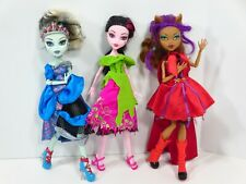 Monster High Dolls Scarily Ever After Collection Set of 3 Lot Mattel