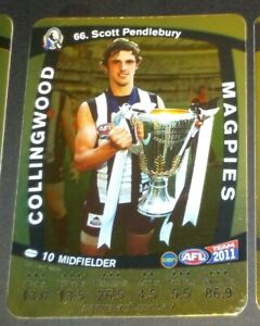 2011 Teamcoach Gold card #66 Scott Pendlebury - Collingwood
