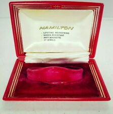 Vintage  Womens Hamilton Empty Box Wrist Watch Red From The Late 1970s/80s