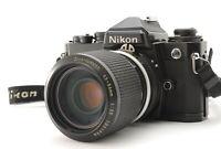 [NEAR MINT] Nikon FE Black SLR 35mm + NIKKOR Ai 43-86mm f/3.5 Lens From Japan