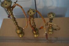 lot de 3  très beau narguilé en bronze ciselé  ,