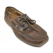 Men's Timberland Annapolis Boat Shoes Sneakers Size 10 M Brown Leather Casual B4