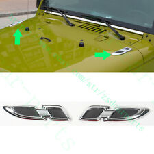 2x For Jeep Wrangler Compass Patriot Cherokee Car Front Cover ABS Decorate Trims