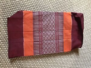 Thai Pillow Cotton Bolster Yoga Headrest Meditation Design. Cover Only